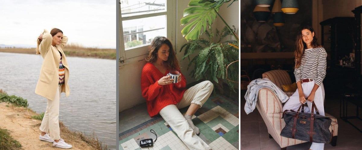 Estilismos cómodos con pantalones blancos para la primavera