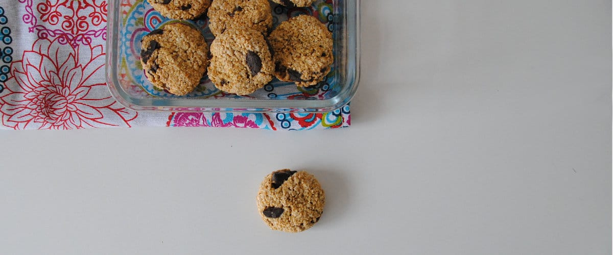 Galletas sencillas de avena, canela y chocolate