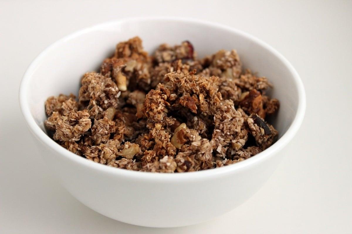Granola hecha en el horno