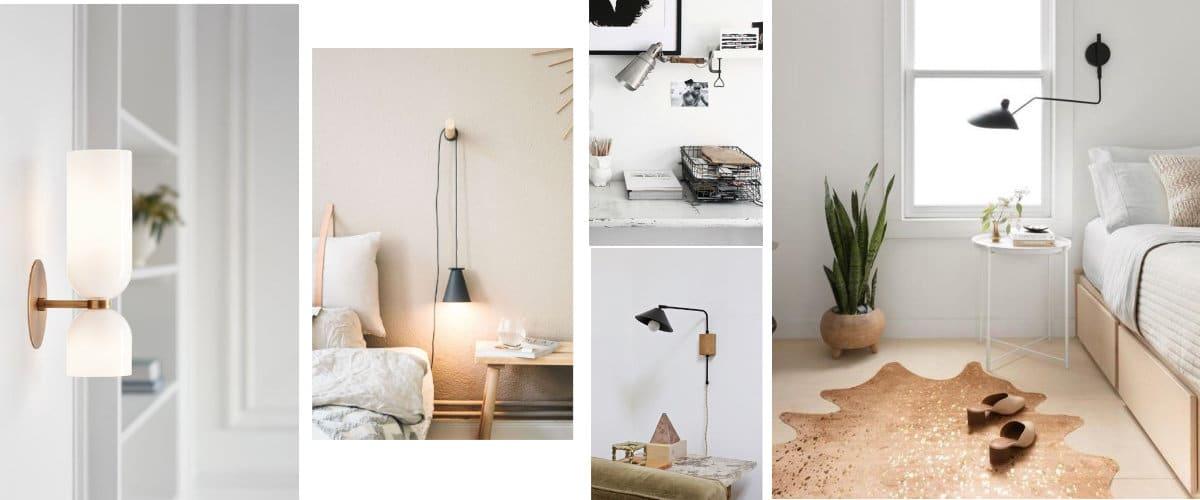 Lámparas de pared de diferentes tipos