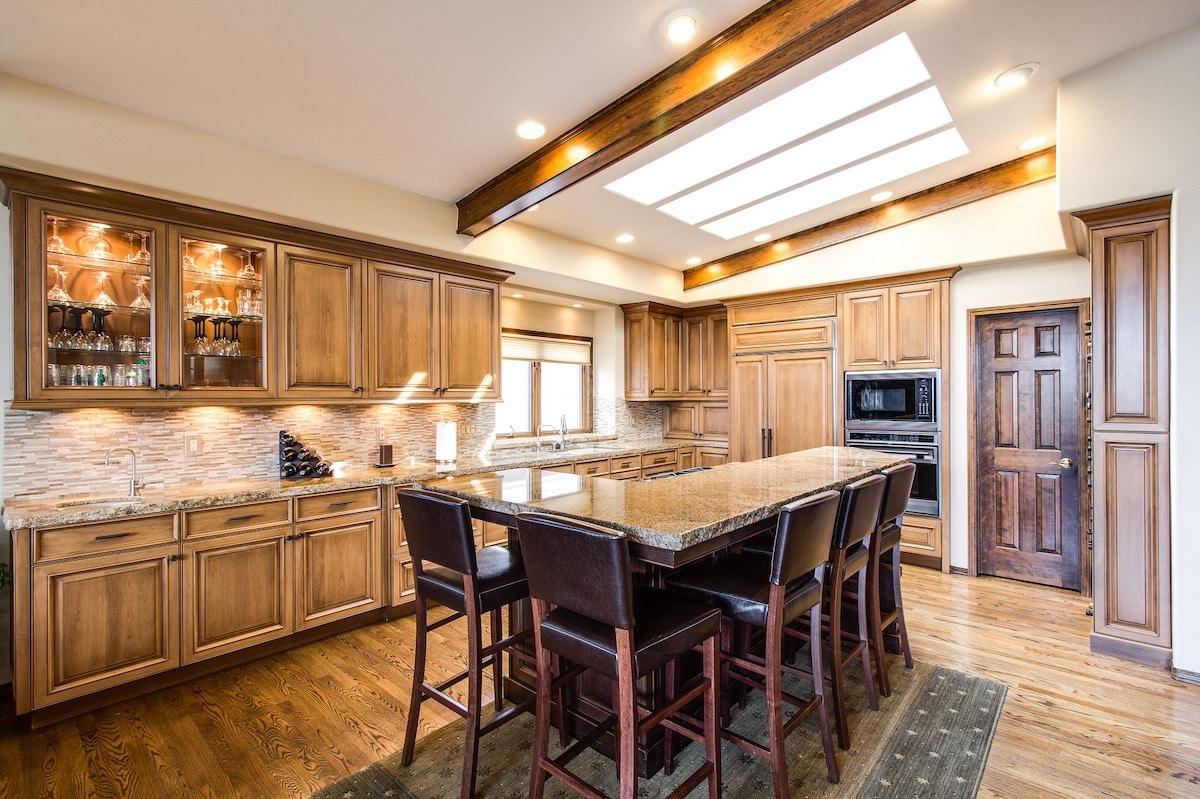 Las cocinas de madera son ideales.