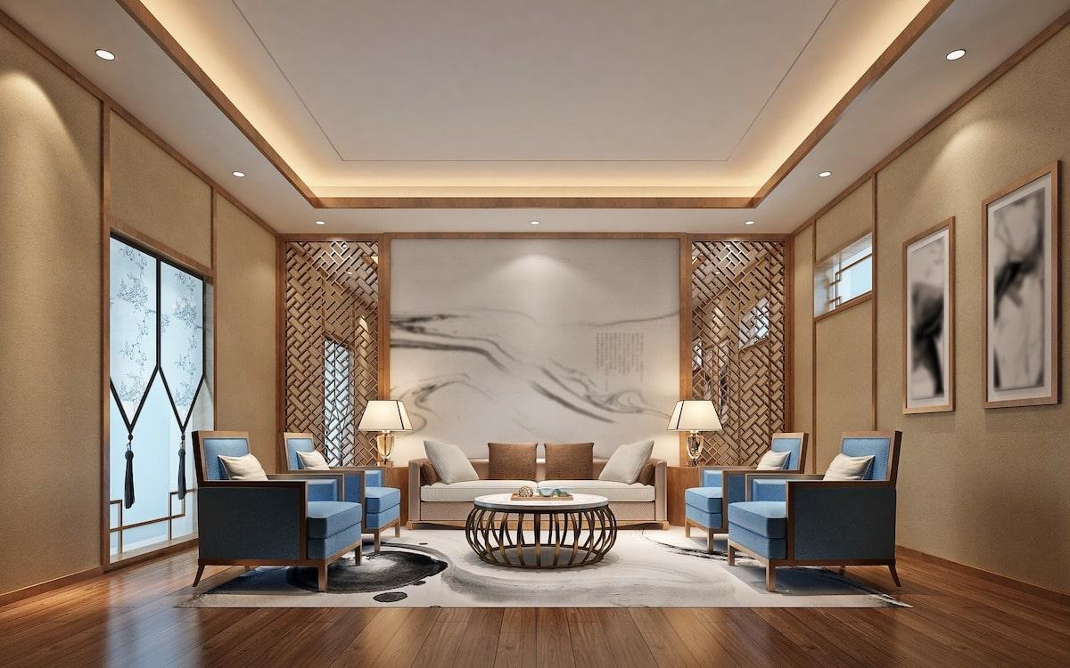El salón con suelo de madera es más cálido.