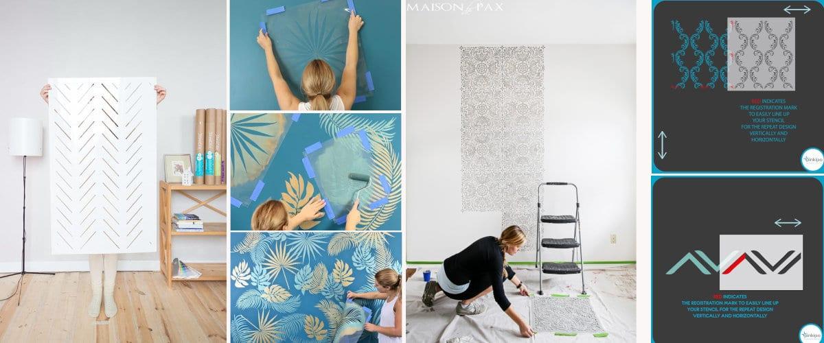 Cómo utilizar una plantilla para pintar paredes