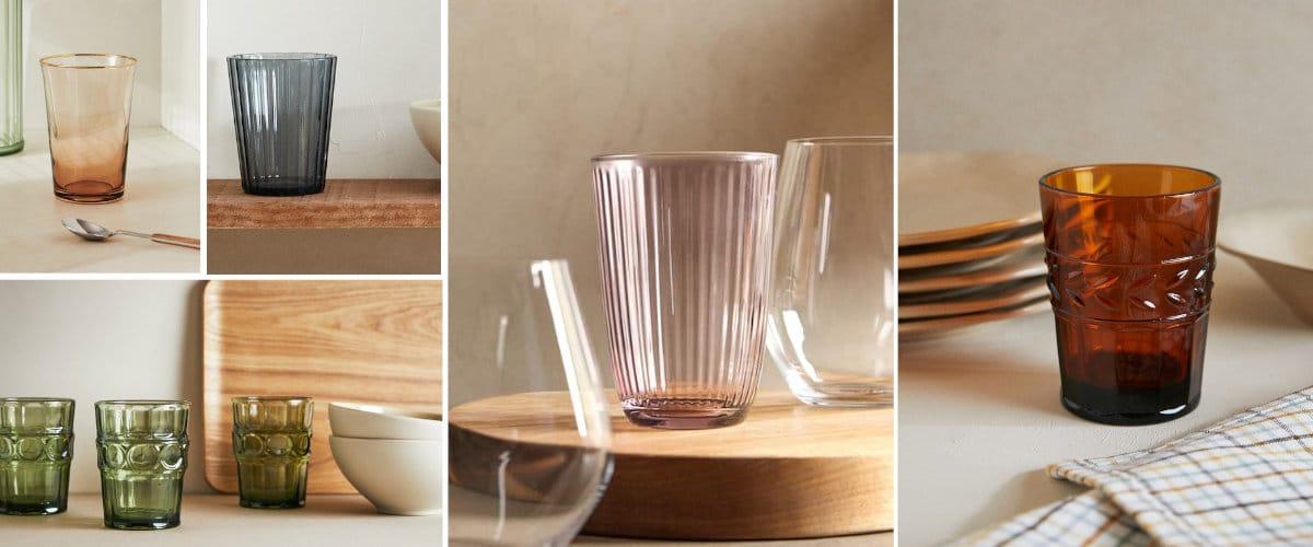 Cristalería de color para una mesa bohemia y atrevida