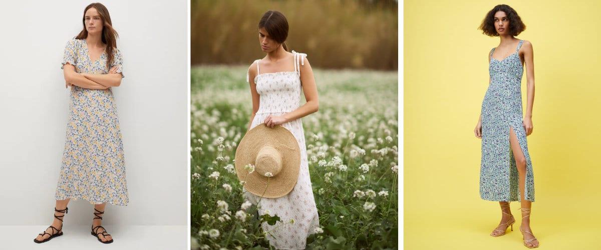 vestidos de flores para una escapada al campo