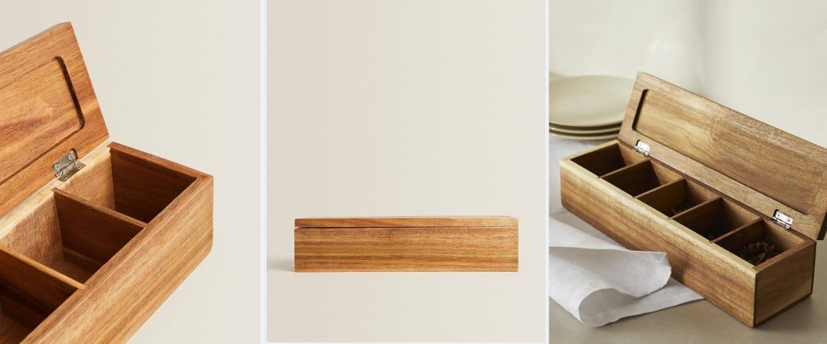 Caja para té de Zara Home