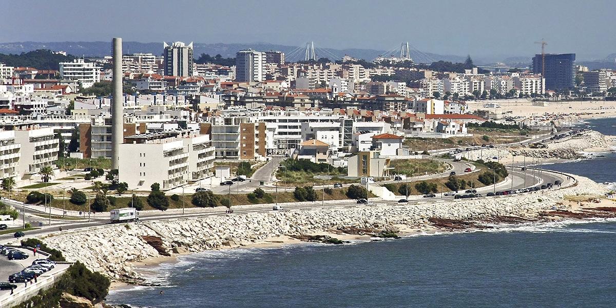 Figueira da Foz en la costa portuguesa