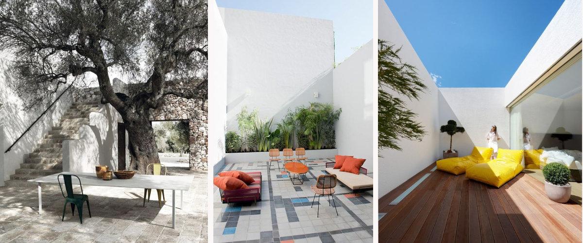 Pavimentos para exteriores de diferentes estilos