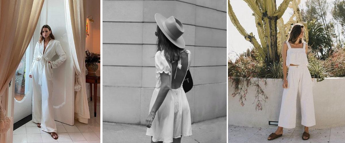 En verano viste blanco sobre blanco