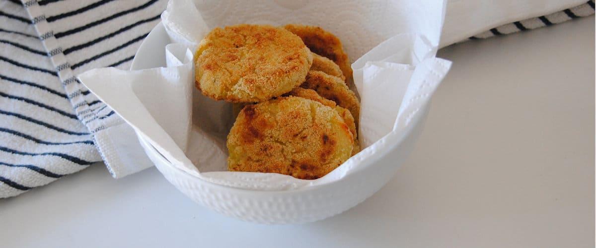 Bocados de patata y calabacín al horno
