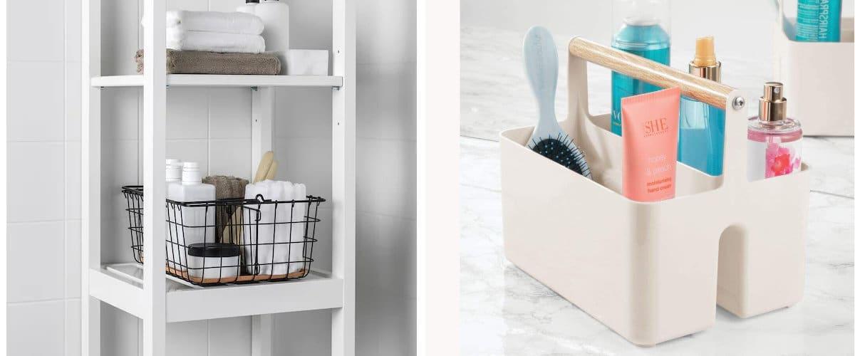 Cestos y cajas con asa de Ikea y mDesign