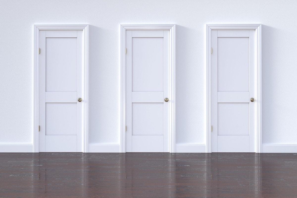 Puertas blancas lacado