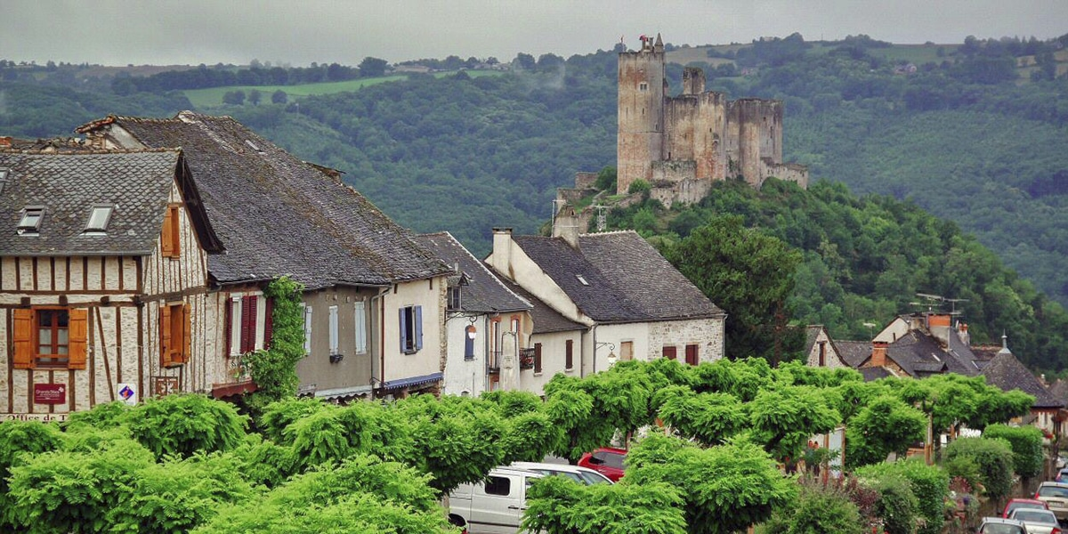 Najac en el sur de Francia