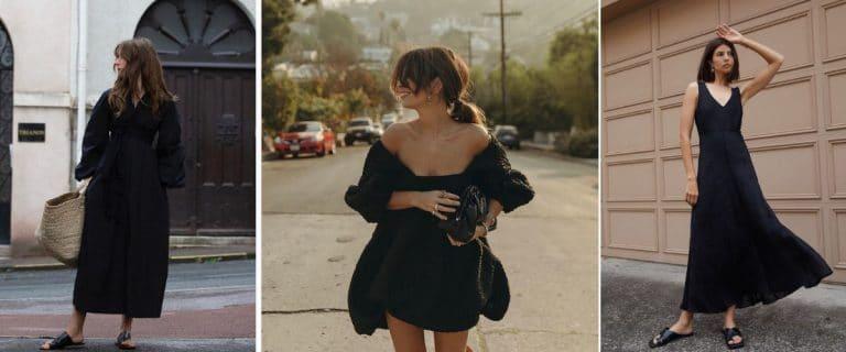 Estilismos de verano con vestidos negros