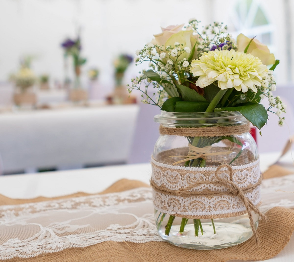 Arreglo floral rústico