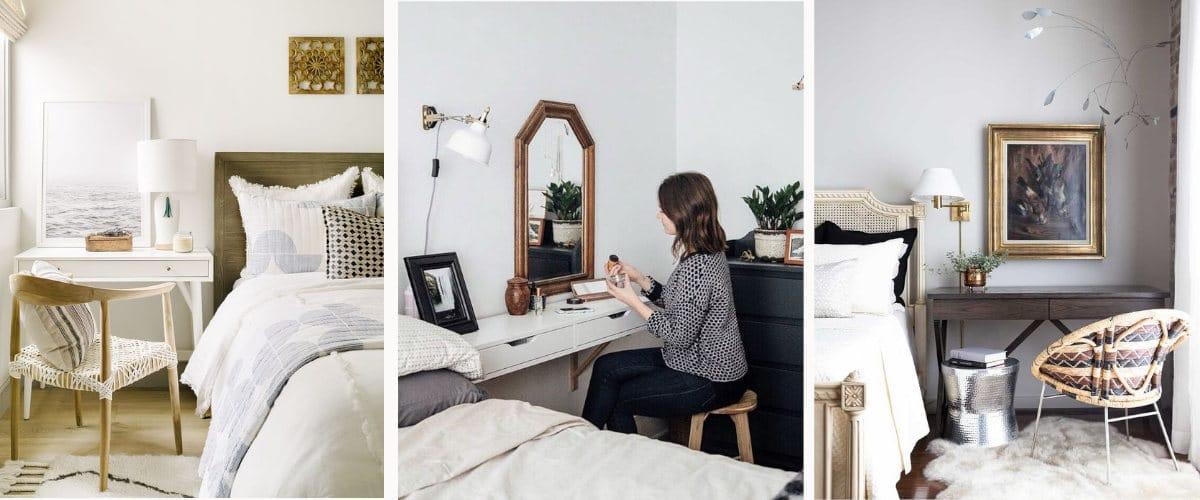 escritorios como mesitas de noche