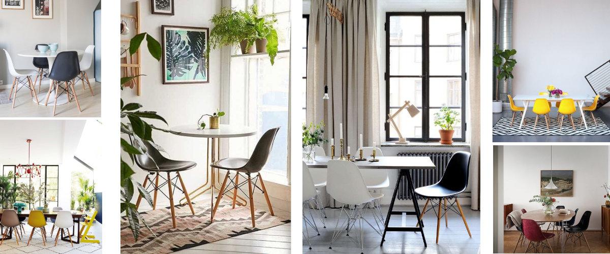 Comedores con sillas Eames