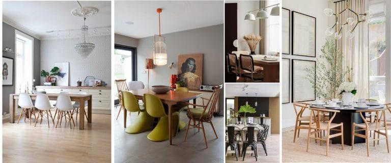 Diferentes tipos de sillas para un comedor moderno
