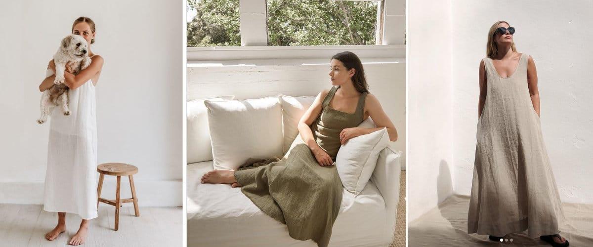 vestidos largos de corte minimalista