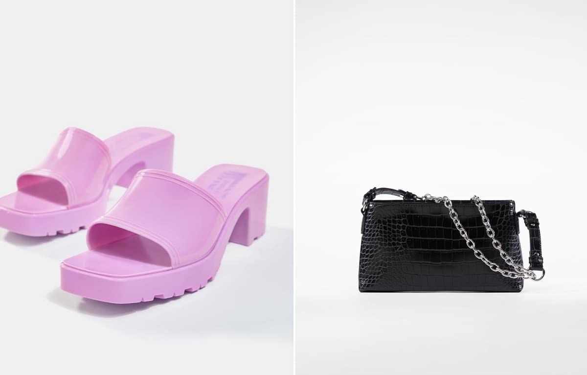 Zapatos y bolsos de Bershka