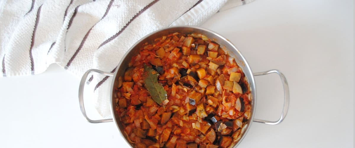 Berenjenas con tomate a la provenzal