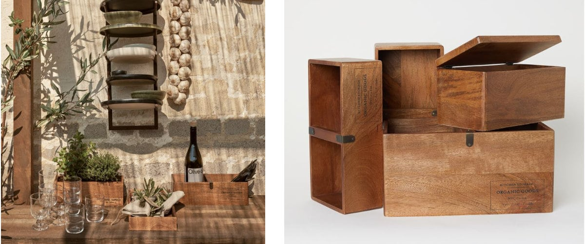 Cajas de almacenaje de madera
