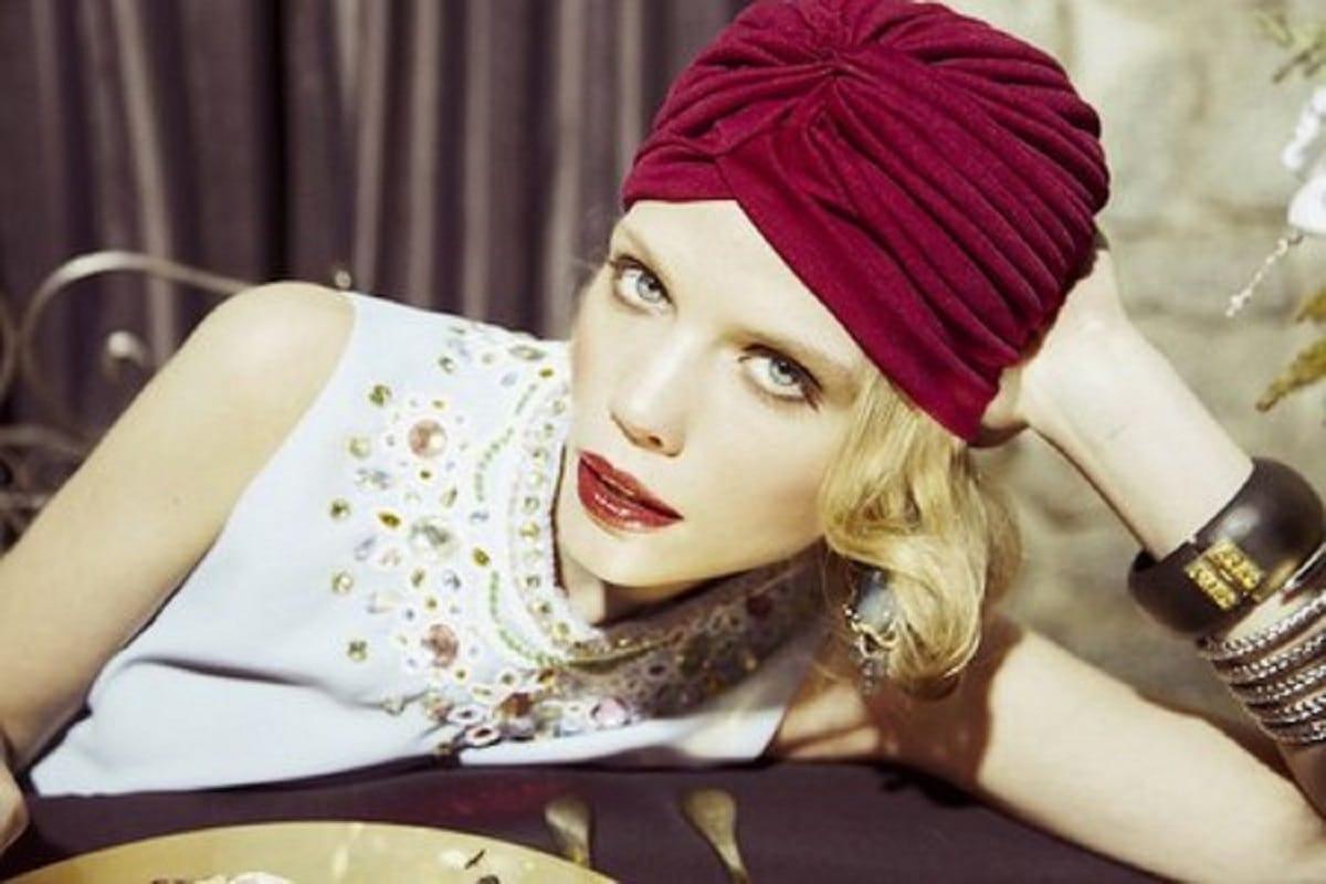 Turbante de estilo hindú