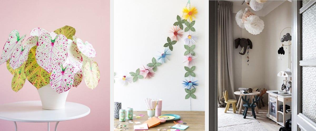 Flores de papel para decorar