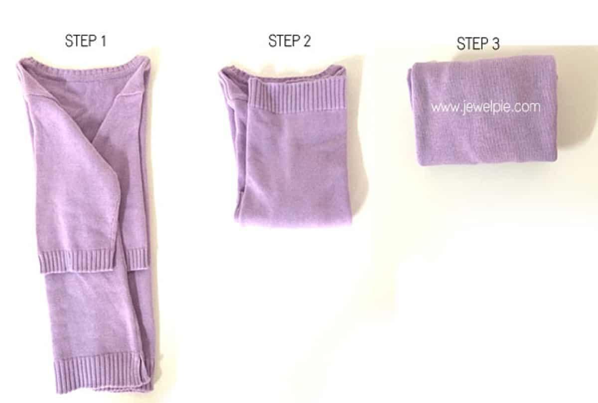 Doblar suéteres y camisetas