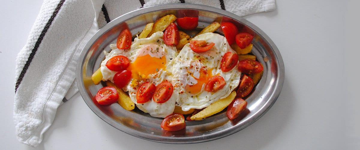 Huevos rotos con cherrys