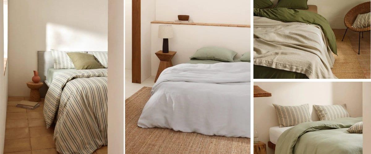 La ropa de cama de Mango