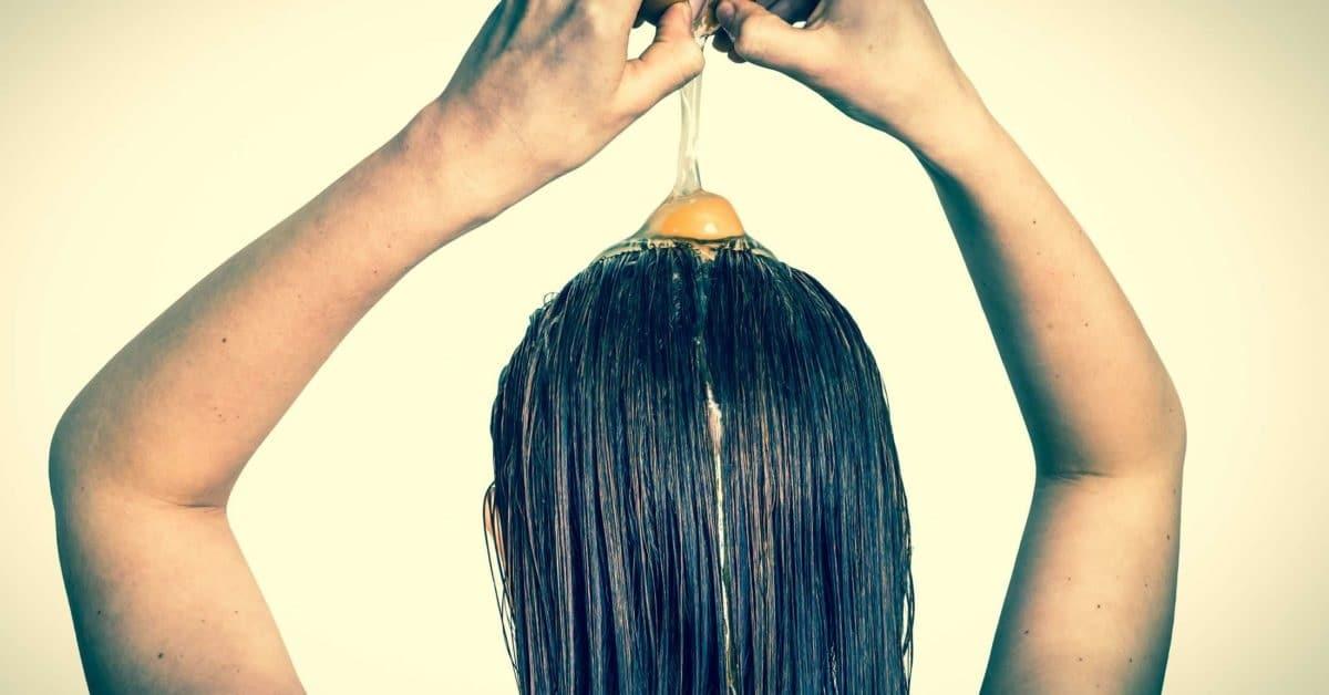 Mascarilla de huevo para el pelo dañado