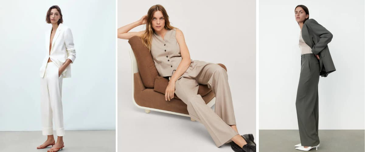 Pantalones de vestir en colores neutros