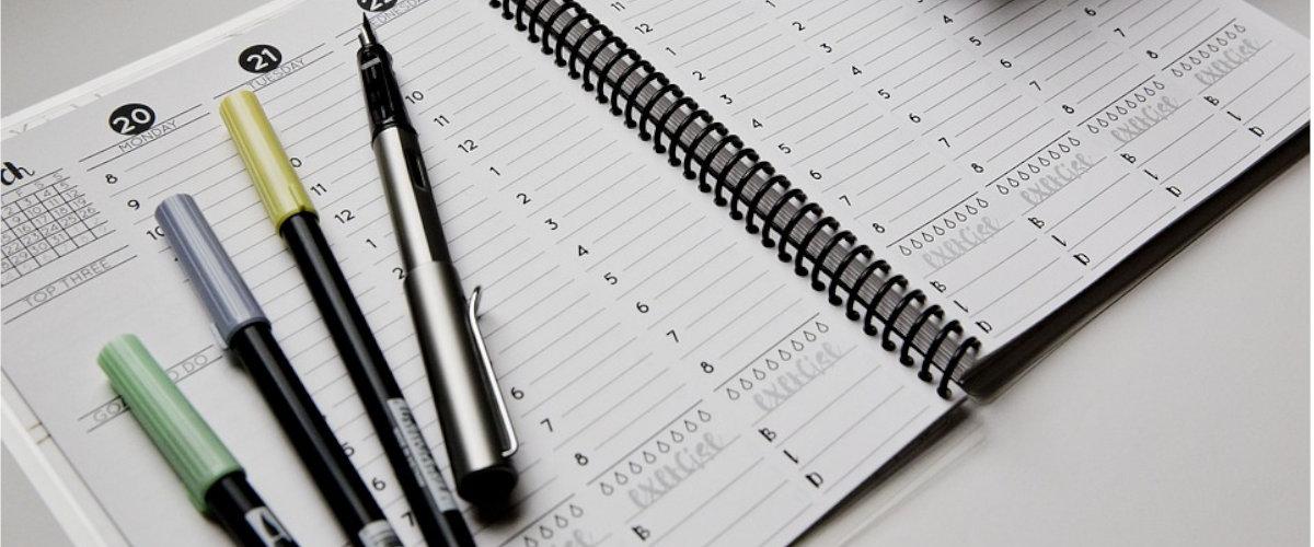 Planificador semanal para volver a la rutina