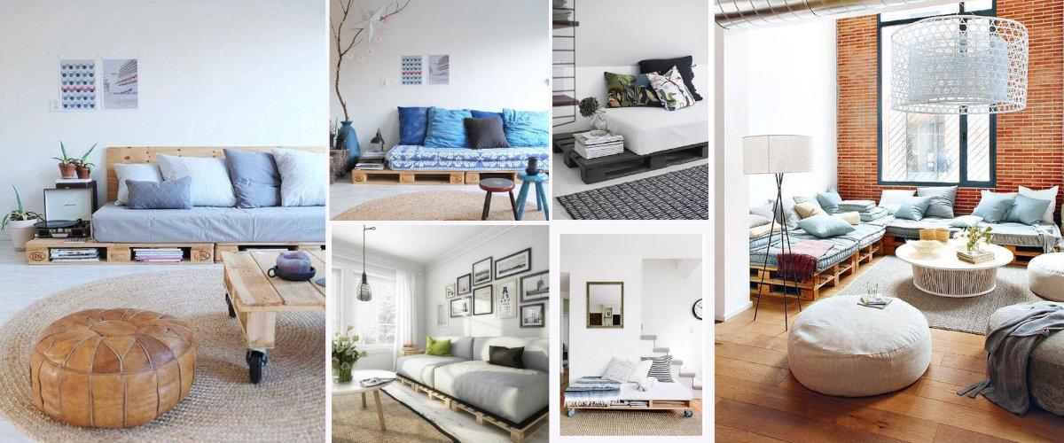 Sofas de interior hechos con palets