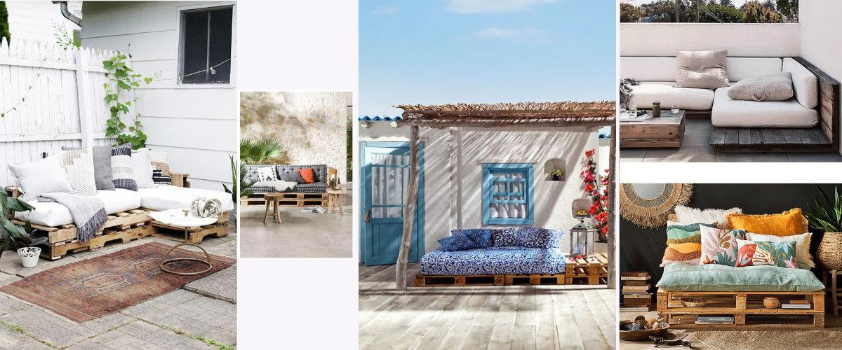 Sofás con palets para la terraza