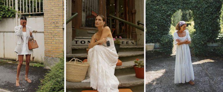 Estilismos con vestido blanco