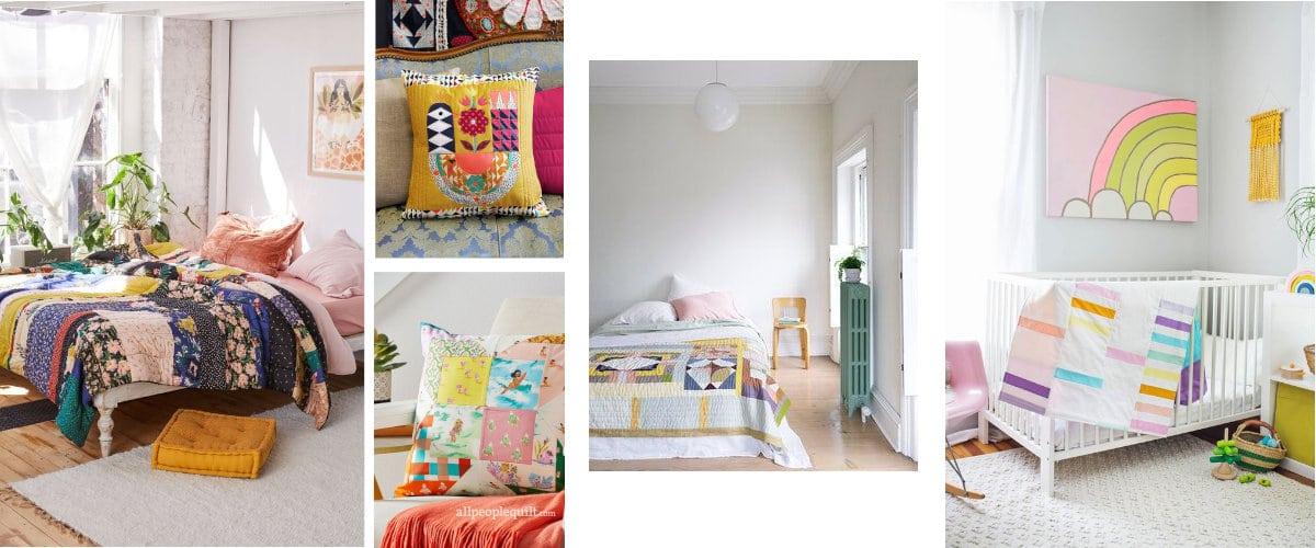 Ropa de cama en patchwork