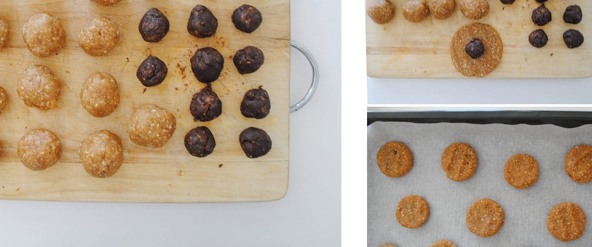 Galletas de almendra con relleno de chocolate