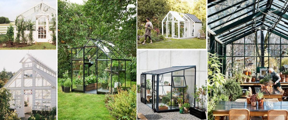 Invernaderos de vidrio en casa