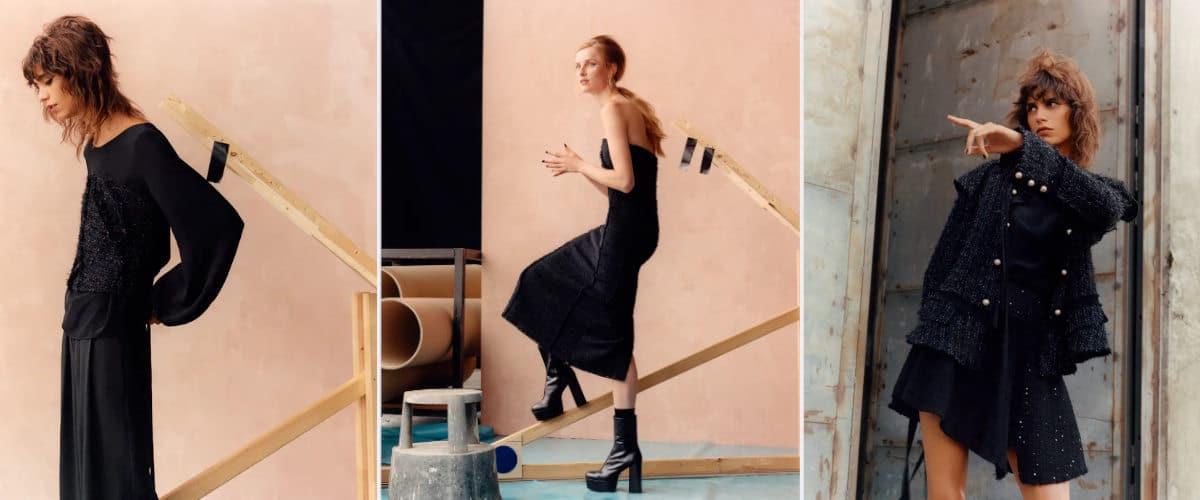 Prendas con detalles de hilo metalizado de Zara