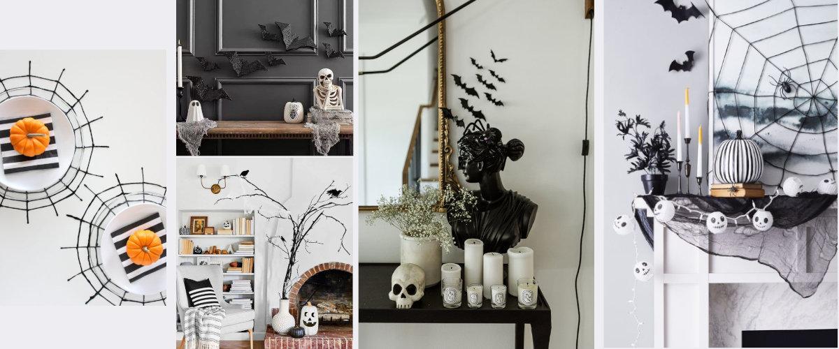 Decoración en color negro para Halloween