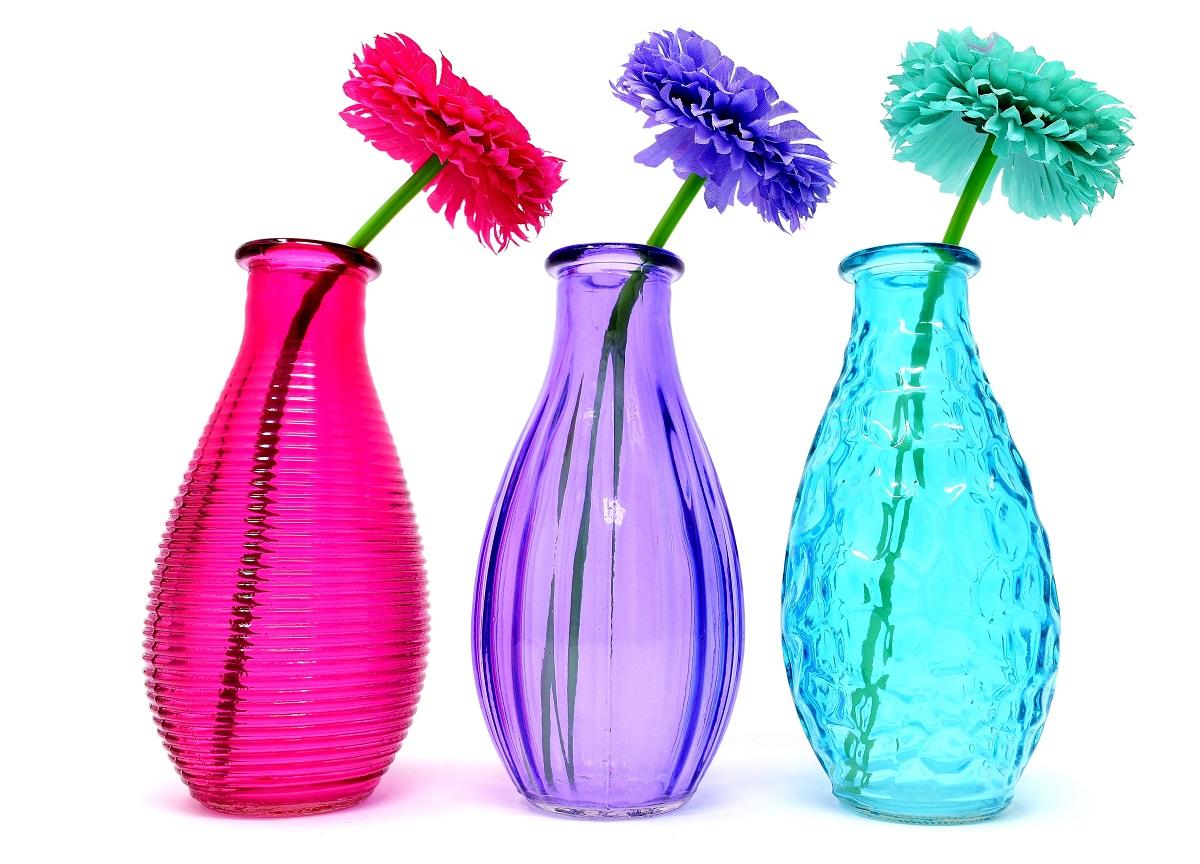 Jarrones de colores para decorar