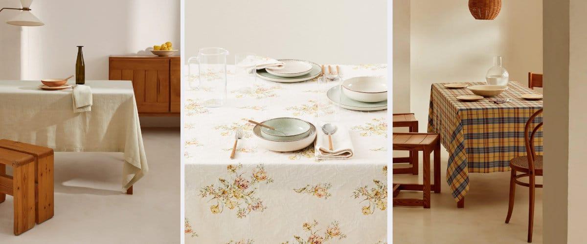 Manteles para vestir la mesa en otoño