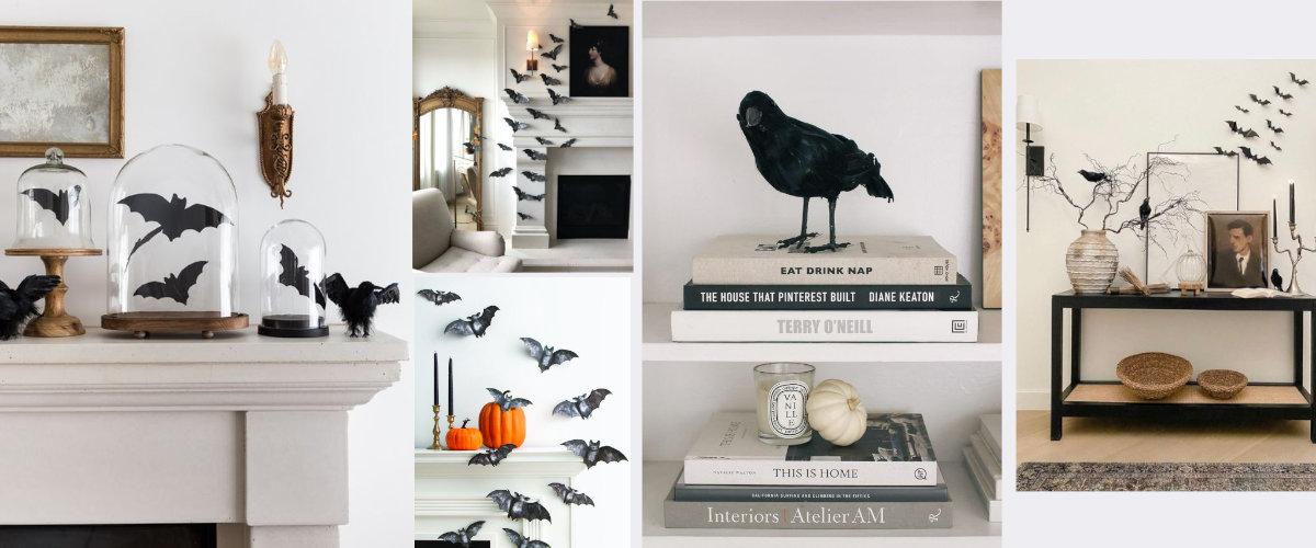Murciélagos y pájaros negros