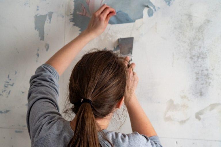 Quitar el papel pintado de la pared
